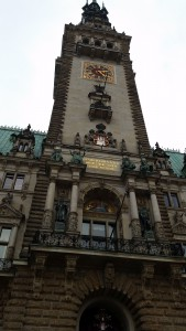Der Turm des Hamburger Rathauses